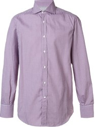 Brunello Cucinelli Gingham Check Shirt Red