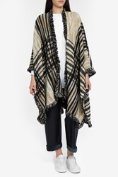 Missoni Plaid Stole Brown