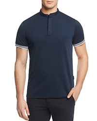 Ag Green Label Haskett Performance Banded Collar Regular Fit Polo Shirt Naval Blue