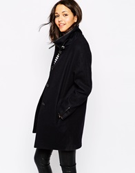 Sessun Nini Coat In Navy