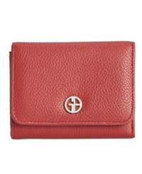 Giani Bernini Softy Leather Mini Trifold Wallet Only At Macy's Red