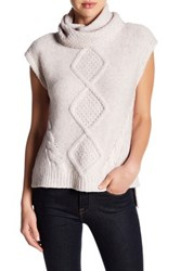 Rebecca Taylor Optic Text Pullover Wool Blend Sweater Pink