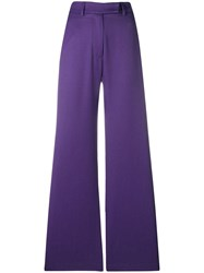 House Of Holland Wide Leg Trousers Pink And Purple