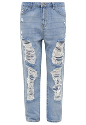 Only Onltonni Relaxed Fit Jeans Light Blue Denim
