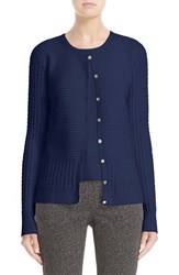 St. John Women's Collection Ottoman Pointelle Knit Cardigan