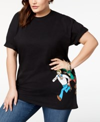 Hybrid Plus Size Scooby Doo T Shirt Created For Macy's Black