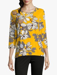 Betty Barclay Floral Top Yellow Black