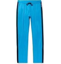 Valentino Stripe Trimmed Jersey Trousers Azure