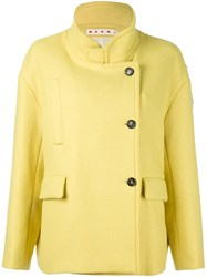 Marni Mandarin Collar Jacket Yellow And Orange