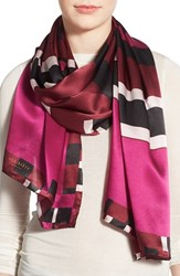 Women's Ted Baker London 'Stencilled Stripe' Oblong Silk Scarf