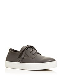 Eileen Fisher Koi Leather Lace Up Sneakers Graphite