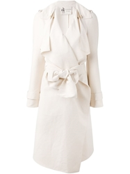 Lanvin Draped Trench Coat