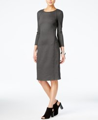 Armani Exchange Seam Detail Sheath Dress Dark