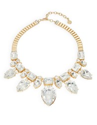 Rj Graziano Teardrop Crystal Statement Necklace Gold