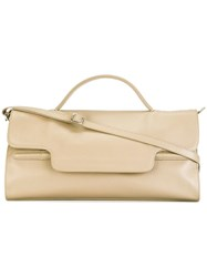 Zanellato Rectangular Top Handle Tote Nude Neutrals