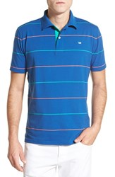 Men's Southern Tide 'Boardwalk Breton Stripe' Stretch Cotton Jersey Polo Blue Cove