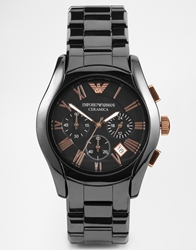 Emporio Armani Chronograph Black Ceramic Watch Ar1410