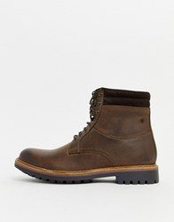 Base London Hide Lace Up Boots In Brown