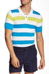 Parke And Ronen San Remo Slim Fit Polo Blue