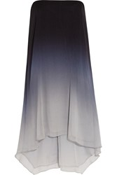 Halston Ombre Chiffon Dress Gray