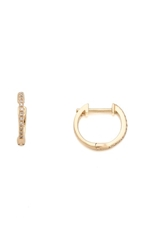 Ariel Gordon Jewelry Pave Diamond Huggie Earrings Gold Diamond