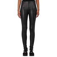 Balenciaga Women's Leather Leggings Blue