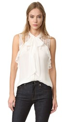 J. Mendel Sleeveless Blouse Ivoire