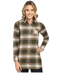Mountain Khakis Penny Plaid Tunic Shirt Rainforest Women's Blouse Brown
