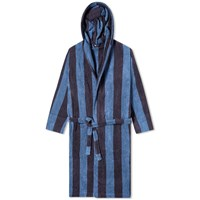 Tekla Fabrics Terry Stripe Bathrobe Blue