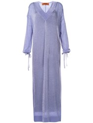 Missoni Glittery Kaftan Dress Purple