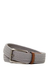 Original Penguin Woven Elastic Leather Belt Gray