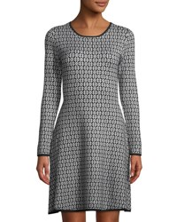 Cynthia Steffe Jacquard Sweater Dress Black