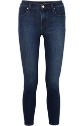 J Brand Alana Cropped High Rise Skinny Jeans Mid Denim