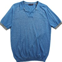 Lords Of Harlech Men's Marcus Sweater Polo In Blue