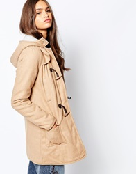 Barney's Originals Melton Wool Duffel Coat Camel