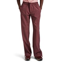 Valentino Contrast Tipped Wool Blend Drawstring Track Pants Wine
