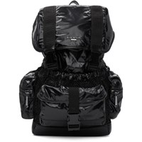 Balmain Black Elite Shiny Nylon Backpack