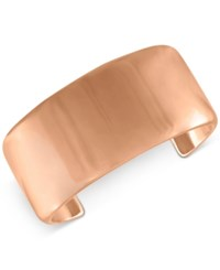 Rachel Roy Rose Gold Tone Smooth Cuff Bracelet Pink