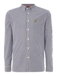 Lyle And Scott Gingham Check Long Sleeve Shirt Navy