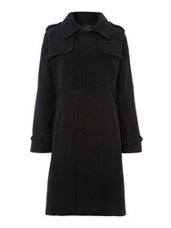 Pied A Terre Wool Trench Coat Grey