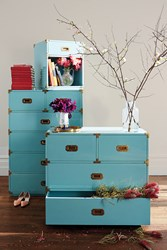 Anthropologie Lacquered Wellington Nightstand Mint