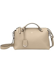 Fendi By The Way Shoulder Bag Calf Leather Nude Neutrals