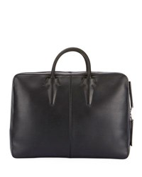 Berluti Spy Leather Briefcase Convertible Backpack Black