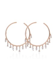 Suzanne Kalan Diamond Hoop Earrings Pink And Purple