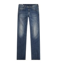 Armani Jeans Extra Slim Washed Male Blue