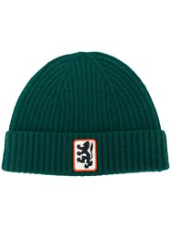 Pringle Of Scotland Lion Badge Beanie Green