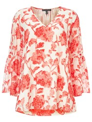 Adrianna Papell Floral Blouse Multi Coloured Multi Coloured