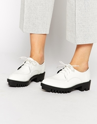 Daisy Street White Chunky Sole Flat Shoes