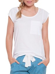Cyberjammies Camilla Pyjama Top White