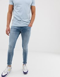 G Star 3301 Deconstructed Skinny Jeans In Medium Aged Blue